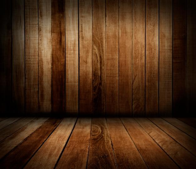 Pared y piso de madera. Foto gratis