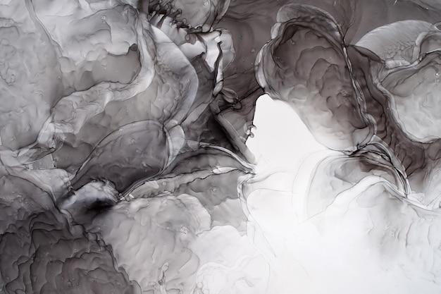 Parte de la pintura de tinta de alcohol original, fondo abstracto Foto Premium