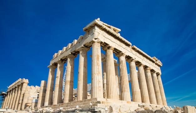 Partenón de la acrópolis en atenas, grecia Foto Premium