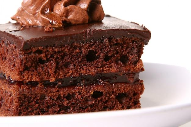 Pastel de chocolate dulce Foto gratis