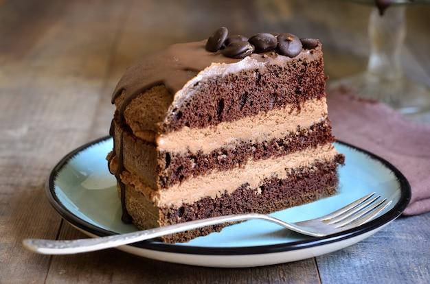 Pastel de chocolate Foto Premium