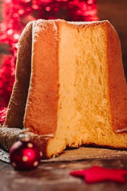 Pastel de pandoro italiano Foto Premium