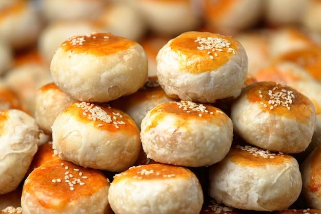Pastel tradicional chino. Foto Premium
