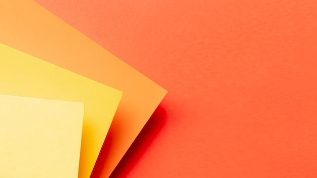Patrón de tonos naranjas con espacio de copia Foto gratis