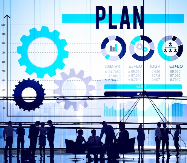 Pautas de planificación del plan proceso solución concept Foto gratis