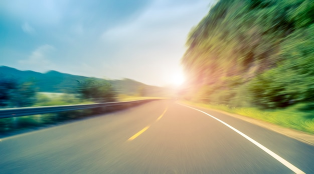 Pavimento de asfalto de carretera al aire libre Foto Premium