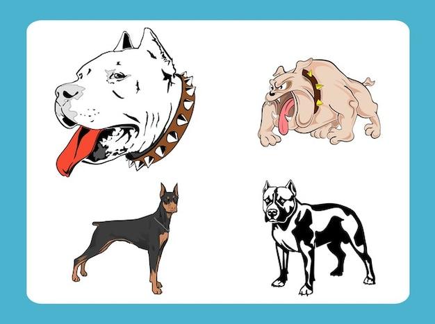 Perros Vector Raza De Mascota De Dibujos Animados Descargar Fotos