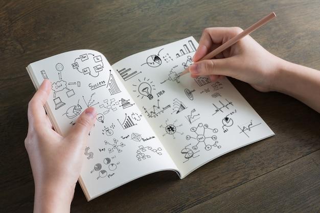De Dibujo En Dibujo Estrenando Libreta: Persona Dibujando En Una Libreta