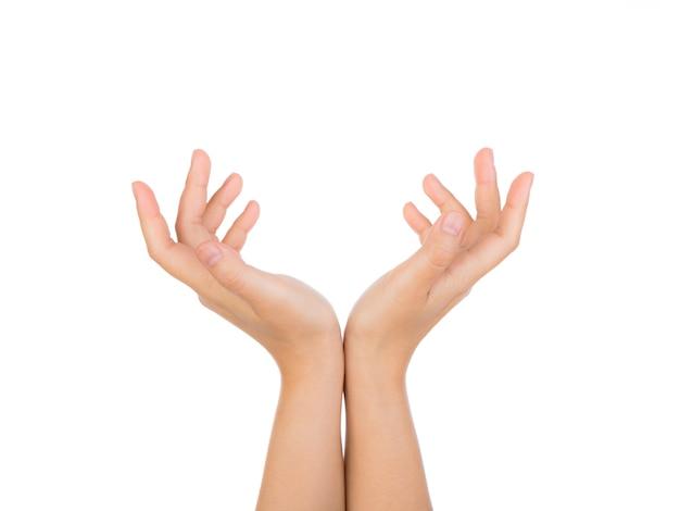 Persona jugando con sus manos Foto gratis
