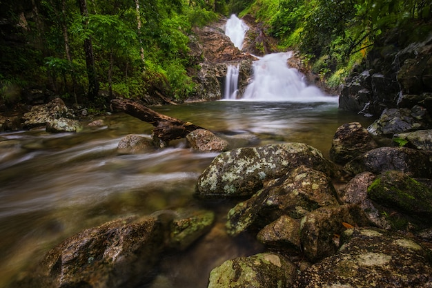 Pi-tu-gro cascada, hermosa cascada en la provincia de tak, thailand. Foto Premium