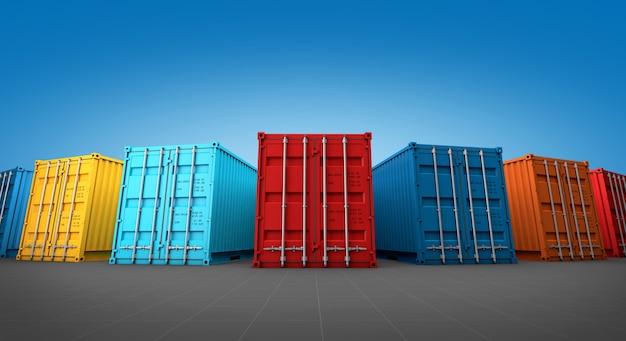 Pila de caja de contenedores, Foto Premium