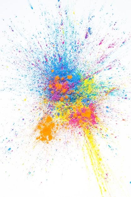 Pila de colores brillantes colores secos Foto gratis