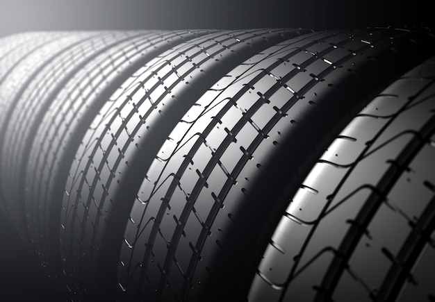 Pila de neumáticos Foto Premium