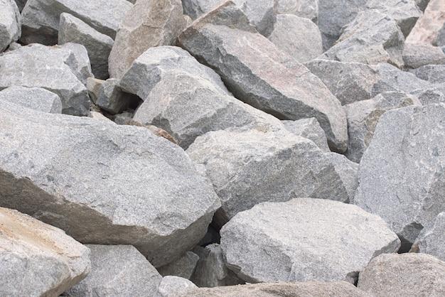 Pila de piedras grandes Foto Premium