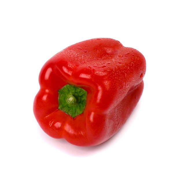 Pimentón rojo sobre fondo blanco Foto Premium
