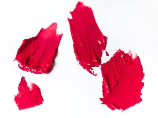 Pinceladas rosas sobre lienzo. Foto gratis