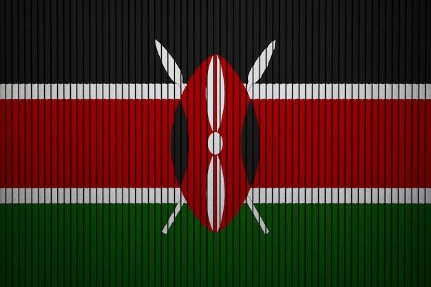 Pintado bandera nacional de kenia en un muro de hormigón Foto Premium