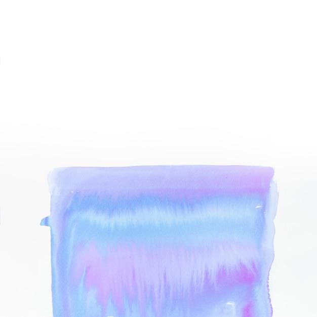Pintado a mano en forma de acrílico aislado sobre fondo blanco Foto gratis