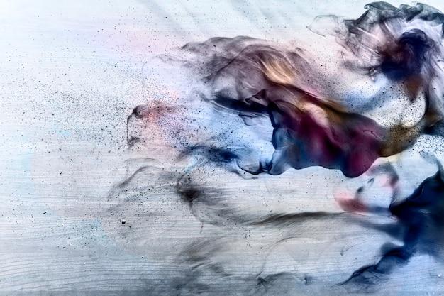 Pintura abstracta sobre lienzo. Foto gratis