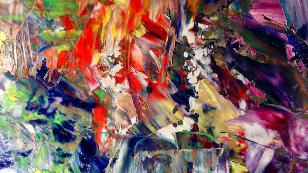 Pintura al óleo de colores de fondo abstracto sobre lienzo Foto Premium