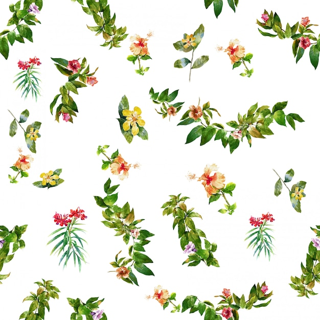 Pintura floral acuarela Foto Premium