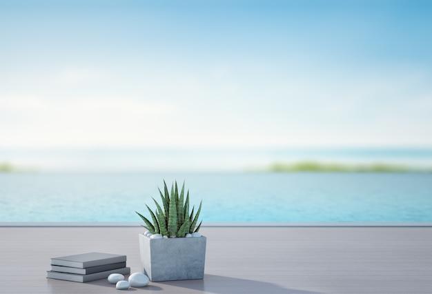 Piscina Con Vistas Al Mar Y Terraza En Casa De Playa De Lujo