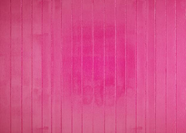 Piso o pared de tablas de madera pintadas de rosa Foto Premium
