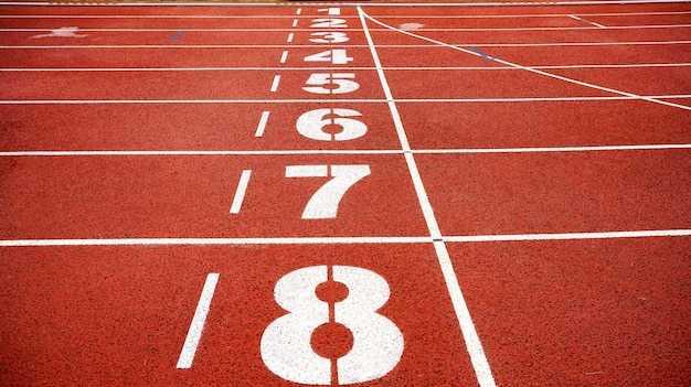 Pista de atletismo Foto gratis