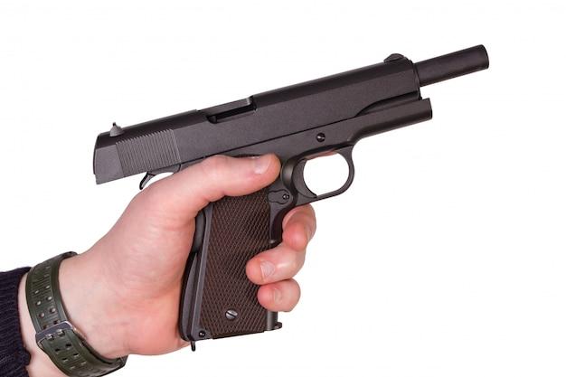 Pistola en mano Foto Premium