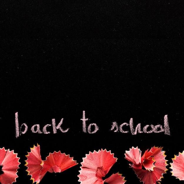 Pizarra con texto de regreso a la escuela Foto gratis