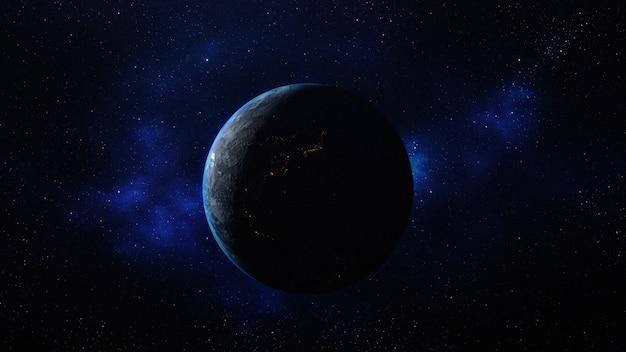 Planeta tierra en el espacio Foto Premium