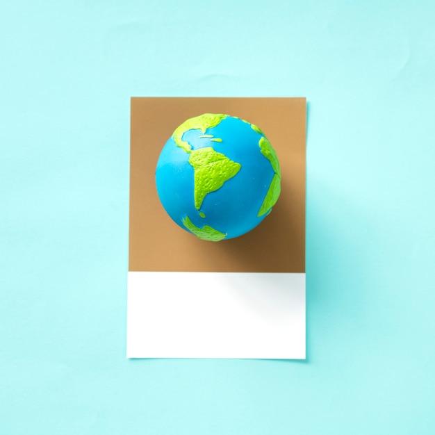 Planeta tierra objeto de juguete globo Foto gratis
