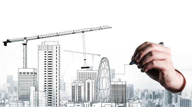 Planificación civil y desarrollo inmobiliario. Foto Premium