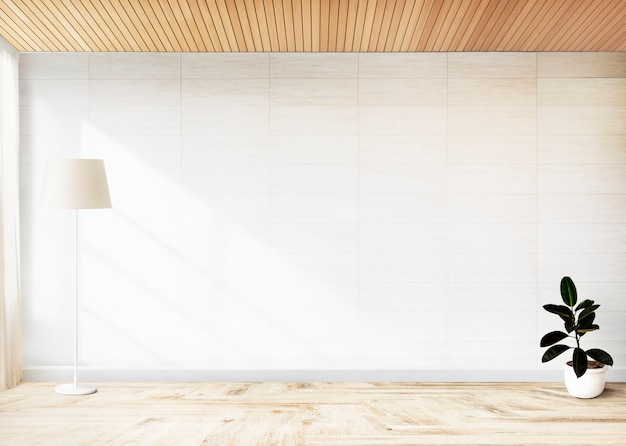 Planta de higo de goma en una habitación vacía. Foto gratis