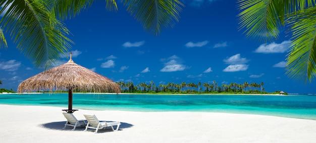 Playa, en, maldivas Foto Premium
