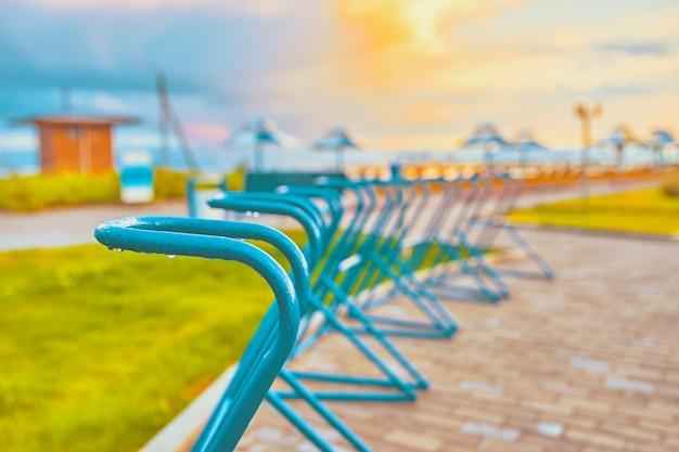 Plazas de aparcamiento de bicicletas Foto Premium