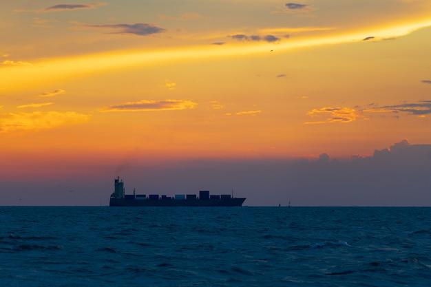 Portacontenedores en el mar Foto Premium
