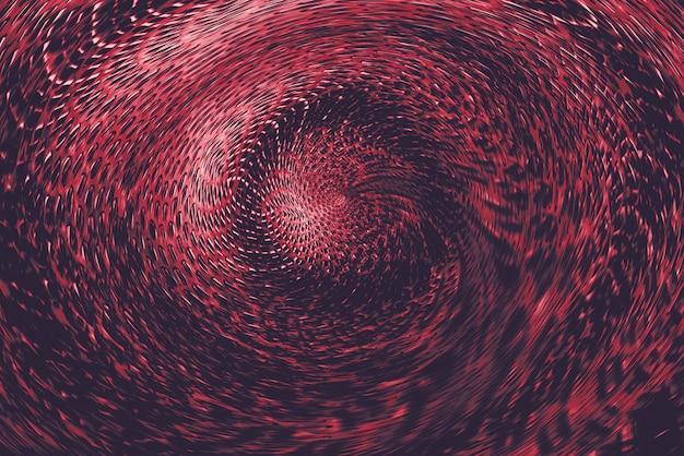 Portal torcido esférico rojo en mundo sobrenatural. Foto Premium