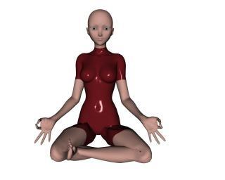 pose de yoga, de dibujos animados, el yoga Foto Gratis