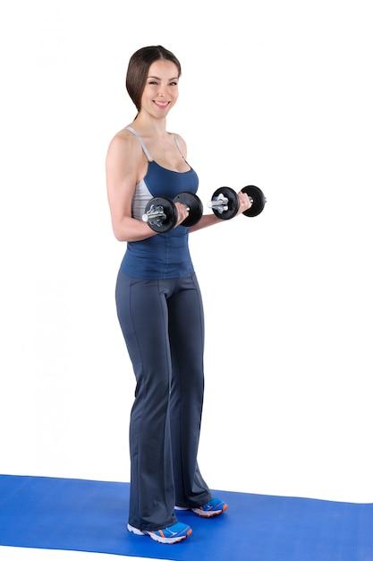 Posición final de flexión de bíceps Foto Premium