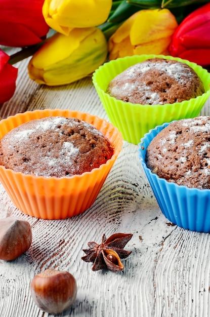 Postre dulce de cupcake Foto Premium
