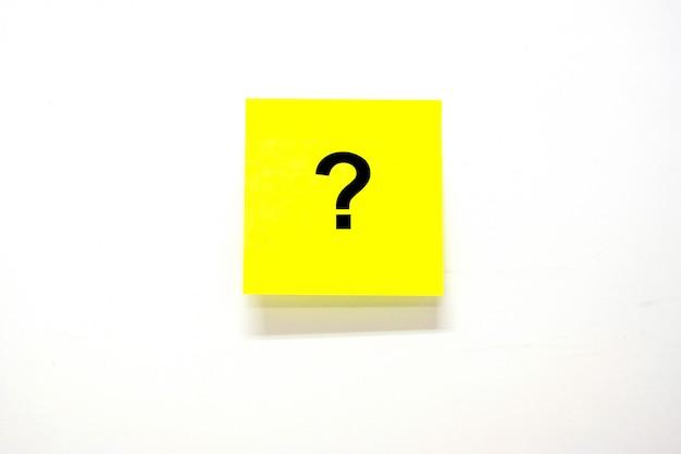 Pregunta marque (?) la palabra con papel de nota o publíquela Foto Premium
