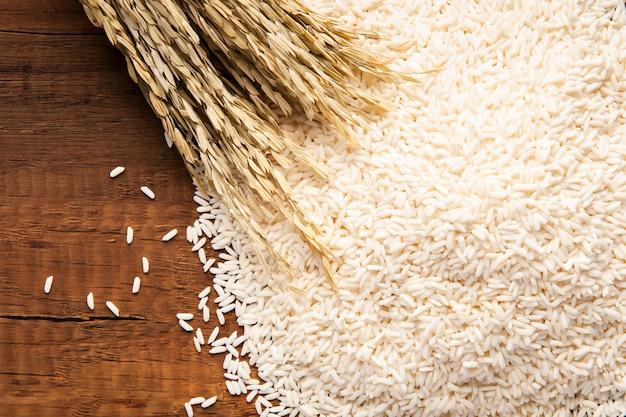 Primer plano de arroz jazmín Foto Premium