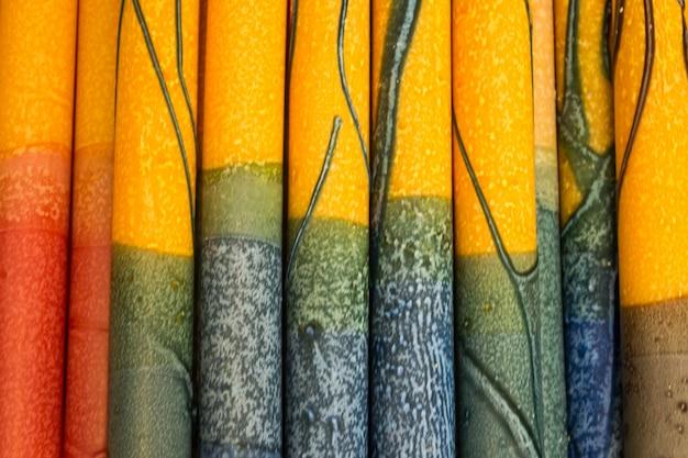 Primer plano de cortina de colores Foto gratis