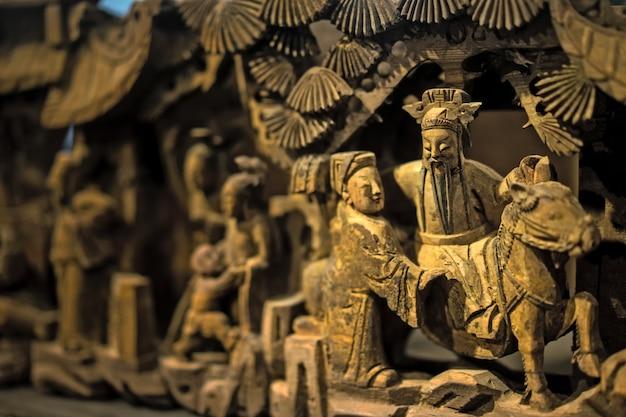 primer plano de esculturas decorativas foto gratis