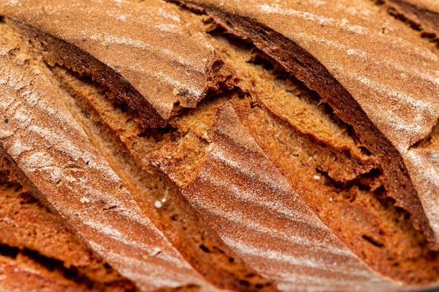 Primer plano delicioso pan casero Foto gratis
