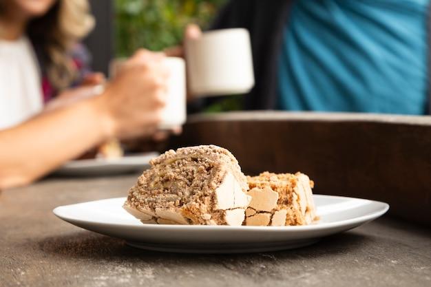 Primer plano de dulces de cafetería Foto gratis