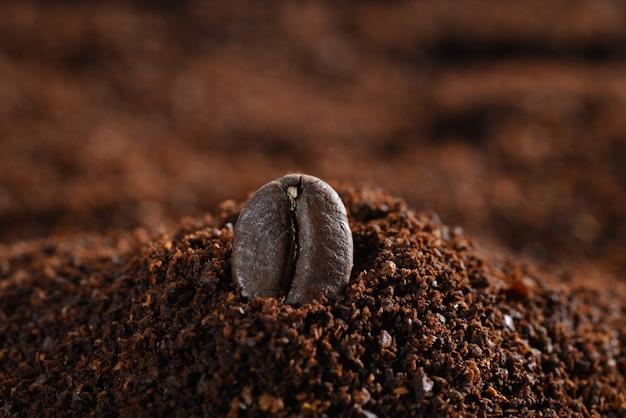 Primer plano de un grano de café Foto gratis