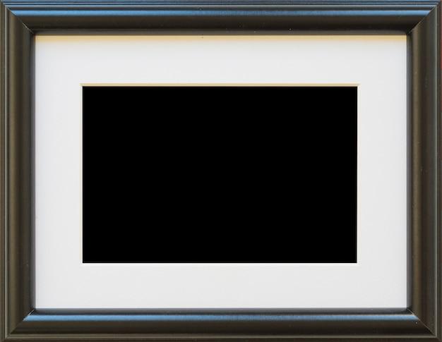 Primer plano de marco de borde vacío negro Foto gratis