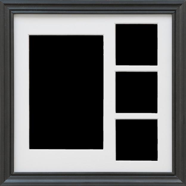 Primer plano de marco de fotos negro Foto gratis